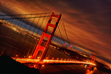 Sunset at Golden Gate Bridge Fotodruck von  prochasson