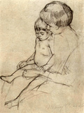 Mother and Child 2 Prints by Mary Cassatt