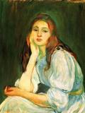 Julie Dreaming Art by Berthe Morisot