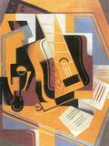 Guitar Posters by Juan Gris