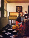The Music Lesson Prints by Jan Vermeer