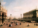 La Piazza Print by  Canaletto