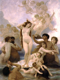 The Birth of Venus Art by William Adolphe Bouguereau