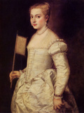 Woman in White Poster by  Titian