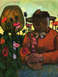 Old Woman in the Garden Print by Paula Modersohn-Becker