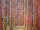 Gustav Klimt - Tannenwald I - Reprodüksiyon