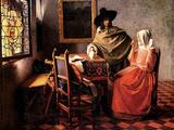 Glass of Wine Prints by Jan Vermeer