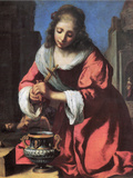 Saint Praxedis Art by Jan Vermeer