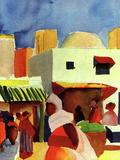 Market in Algier Prints by Auguste Macke