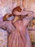 Woman Combing Her Hair Pósters por Henri de Toulouse-Lautrec