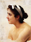 Study of a Woman for Offering to Love Posters by William Adolphe Bouguereau