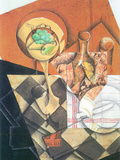 Fruit Peel and Carafe Prints by Juan Gris