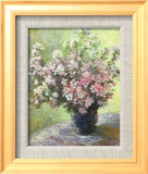 Vase of Flowers (Mini) Posters by Claude Monet