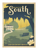 Welcome to the South Plakat af Anderson Design Group