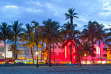 Miami Beach Florida at Sunset Photo by  Fotomak
