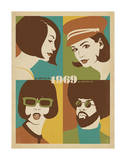 1969, Go with the Flo, Go with The Fro Prints by  Anderson Design Group