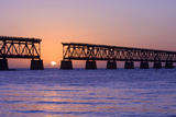 Sunset at Bahia Honda State Park in Florida Photographic Print by  Fotomak