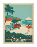 Surfs Up Christmas Prints by  Anderson Design Group