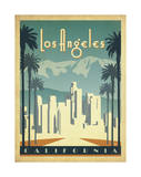Los Angeles, California Art by John Golden