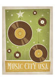 Music City U.S.A , Nashville, Tennessee Posters af Anderson Design Group