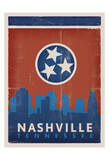 Skyline, Nashville, Tennessee Prints by  Anderson Design Group
