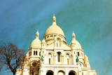 Retro Sacre-Coeur Church in Montmartre,Paris Posters by  ilolab