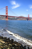 Vertical View of Famous Golden Gate Bridge Fotodruck von  prochasson