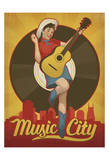 Pin Up Girl, Music City, Nashville, Tennessee Posters by  Anderson Design Group