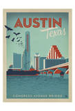 Congress Avenue Bridge, Austin, Texas Prints by  Anderson Design Group