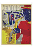 NY Jazz Fest Plakat autor Anderson Design Group