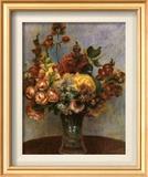 Flowers in a Vase Art by Pierre-Auguste Renoir
