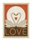 Love Swans Posters by  Anderson Design Group