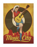 Pin Up Girl, Music City, Nashville, Tennessee Art by  Anderson Design Group