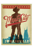 Music City, I Love Nashville Prints by  Anderson Design Group