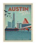 Congress Avenue Bridge, Austin, Texas Prints by  Anderson Design Group