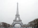 France - Paris - the Eiffel Tower under falling Snow Posters by  isaxar