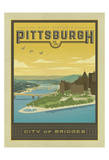Pittsburgh, City of Bridges Prints by  Anderson Design Group