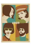 1969, Go with the Flo, Go with The Fro Plakat af Anderson Design Group