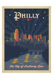 Philly, City of Brotherly Love Plakat af Anderson Design Group