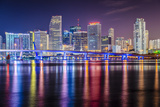 Miami, Florida Skyline at Biscayne Bay. Posters by  SeanPavonePhoto