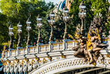 Pont Alexandre III  Alexander the Third Bridge in the City of Paris in France Print by  OSTILL