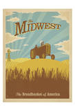 Midwest, The Breadbasket of America Plakater af Anderson Design Group