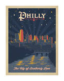Philly, City of Brotherly Love Affiches par  Anderson Design Group