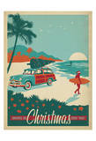 Anderson Design Group - Surfs Up Christmas - Poster
