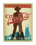 Music City, I Love Nashville Posters by  Anderson Design Group