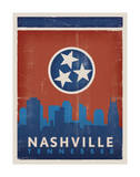 Skyline, Nashville, Tennessee Posters by  Anderson Design Group