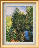 Corner of the Garden at Montgeron Plakater af Claude Monet
