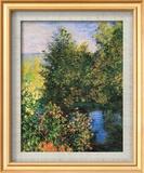 Corner of the Garden at Montgeron Stampe di Claude Monet