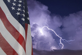 Flag and Storm Photographic Print by  jcpjr