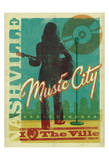 Music City, Nashville, Tennessee Prints by  Anderson Design Group